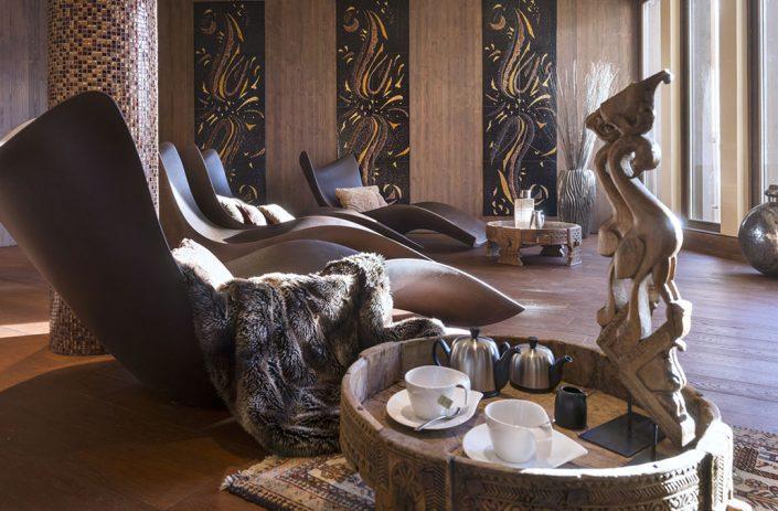 Espace bien-être, massage, sauna, piscine au Hameau du Kashmir à Val Thorens